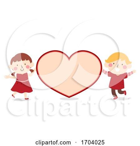 Kids Valentine Card Heart Illustration by BNP Design Studio