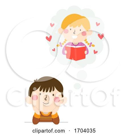 Kids Boy Think Cloud Girl Crush Illustration by BNP Design Studio