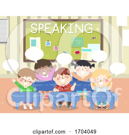 Kids Classroom Speaking Illustration by BNP Design Studio