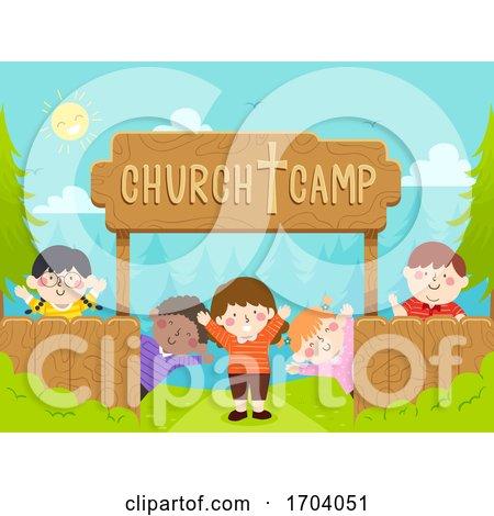Kids Church Camp Wave Illustration by BNP Design Studio