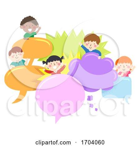 Kids Speech Bubbles Illustration by BNP Design Studio