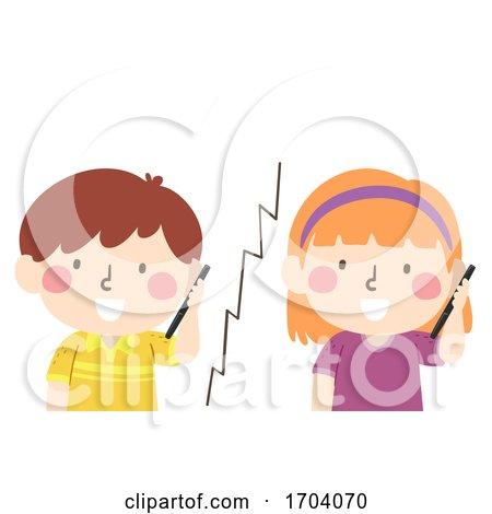 Kids Friend Call Illustration by BNP Design Studio