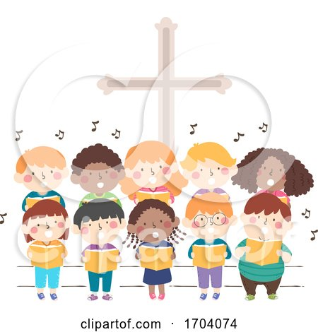 Kids Church Stage Sing Illustration by BNP Design Studio