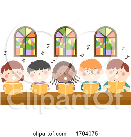 Kids Church Sing Illustration by BNP Design Studio