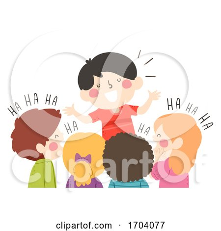 Kids Boy Comedian Tell Joke Illustration by BNP Design Studio