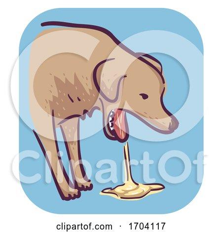 Dog Symptom Vomit Illustration by BNP Design Studio