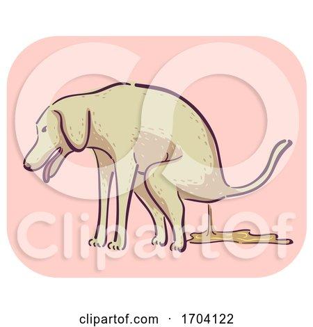 Dog Symptom Diarrhea Illustration by BNP Design Studio