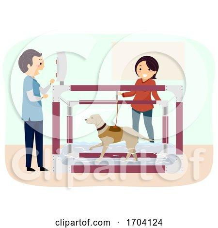 Stickman Dog Aquatic Therapy Illustration by BNP Design Studio