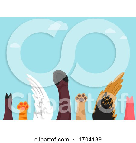Farm Animals Raise Hand Illustration by BNP Design Studio