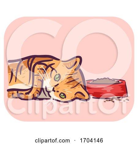 Cat Symptom Loss Appetite Illustration by BNP Design Studio