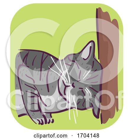 Cat Symptom Head Butting Illustration by BNP Design Studio