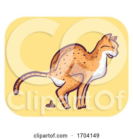 Cat Symptom Frequent Defecating Illustration by BNP Design Studio