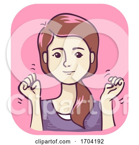 Girl Flapping Hands Tourette Symptom Illustration by BNP Design Studio