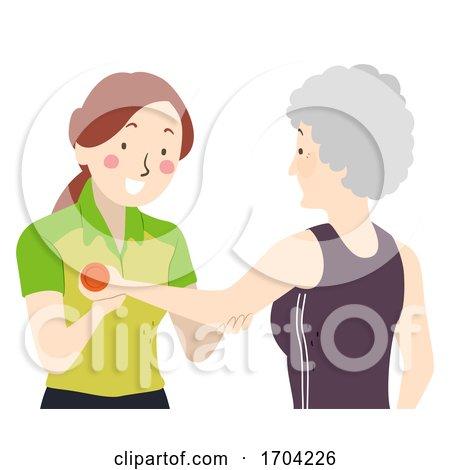 Senior Woman Physical Therapist Illustration by BNP Design Studio