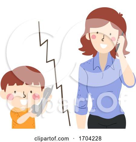 Kid Boy Call Girl Mom Illustration by BNP Design Studio