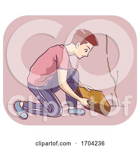 Man Termite Trap Illustration by BNP Design Studio