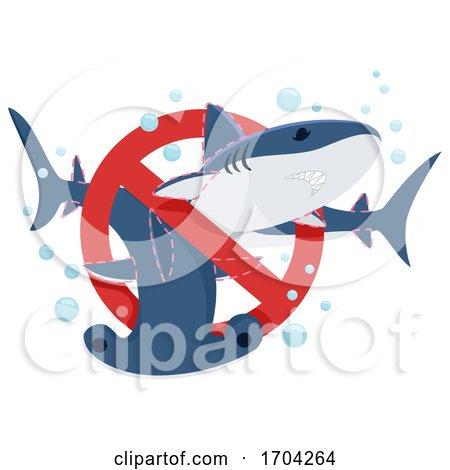 Stop Shark Finning Illustration by BNP Design Studio