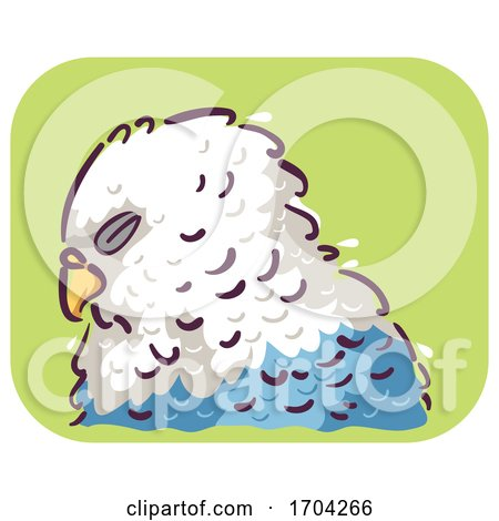 Bird Ruffled Feathers Illustration by BNP Design Studio