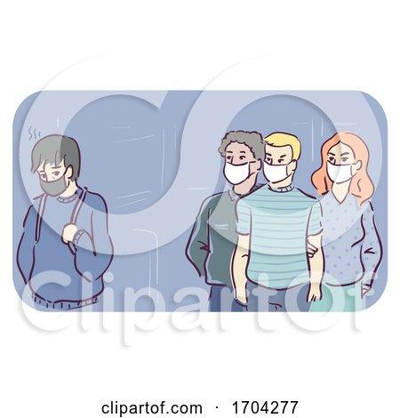 Pandemic People Discrimination Masks Illustration by BNP Design Studio