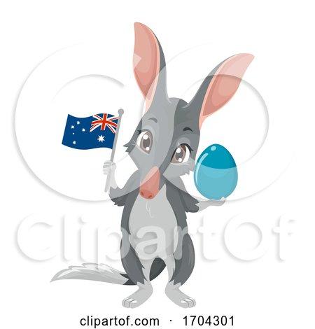 Bilby Mascot Easter Egg Australia Illustration by BNP Design Studio