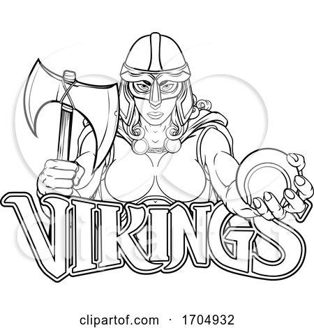 Viking Trojan Celtic Knight Tennis Warrior Woman by AtStockIllustration