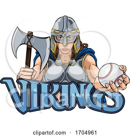 Viking Trojan Celtic Knight Baseball Warrior Woman by AtStockIllustration