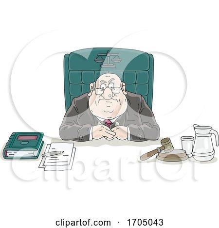 Lawyer Sitting at His Desk by Alex Bannykh
