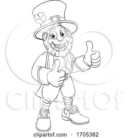 Leprechaun St Patricks Day Cartoon Character by AtStockIllustration