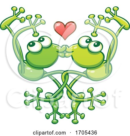 Tangled Kissing and Dancing Frogs in Love by Zooco
