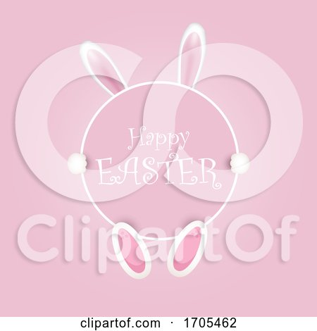 Happy Easter Background with Bunny Ears Posters, Art Prints