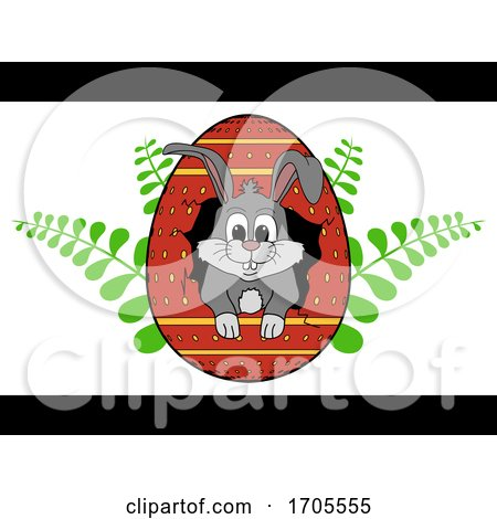 Hand Drawn Easter Bunny out from Cracked Egg Posters, Art Prints