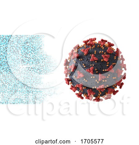 Abstract Medical Background with Covid 19 Virus Cell by KJ Pargeter