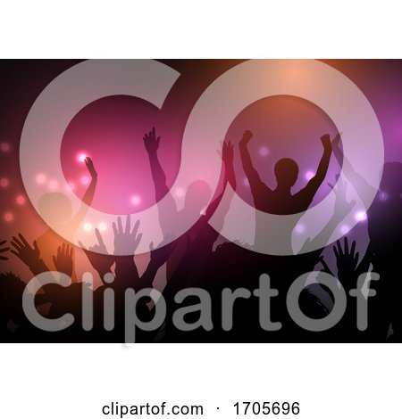 Party Crowd with Lights Background by KJ Pargeter