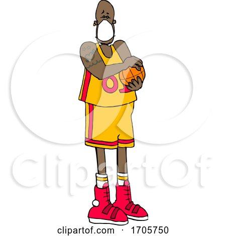 Cartoon Basketball Player Wearing a Mask by djart