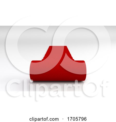 Red Carpet on White Background by KJ Pargeter