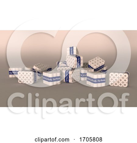 Bulk Packets of Shrink Wrapped Toilet Rolls by KJ Pargeter