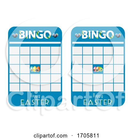 Easter Blank Decorated Bingo Cards Posters, Art Prints