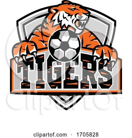 Tigers Football Shield Mascot by patrimonio