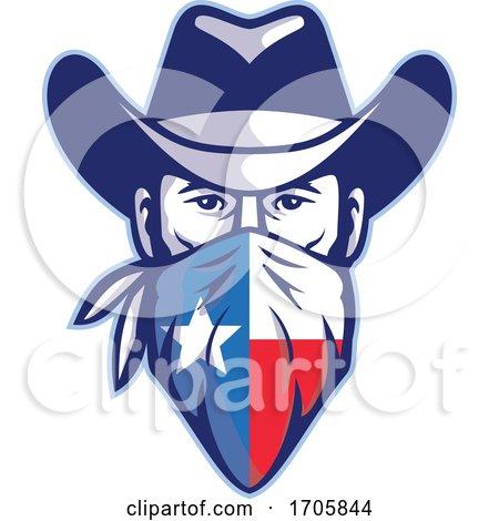 Cowboy bandana texas flag FRNT MASCOT by patrimonio