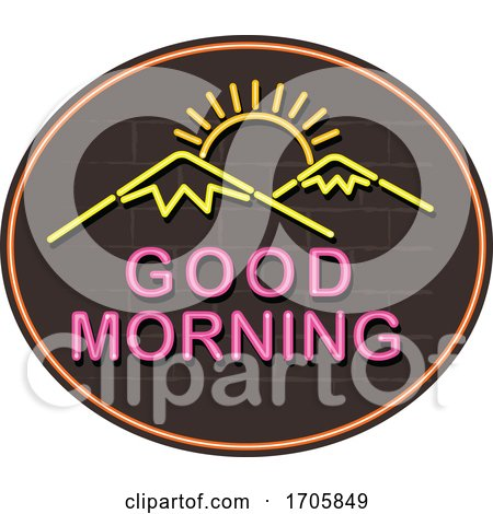 Good Morning Neon Sign by patrimonio