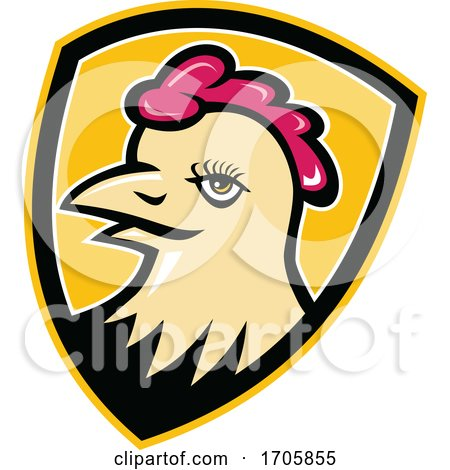Hen Head Shield Mascot by patrimonio