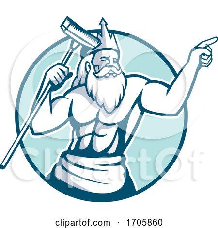 Neptune pool scrub MASCOT by patrimonio