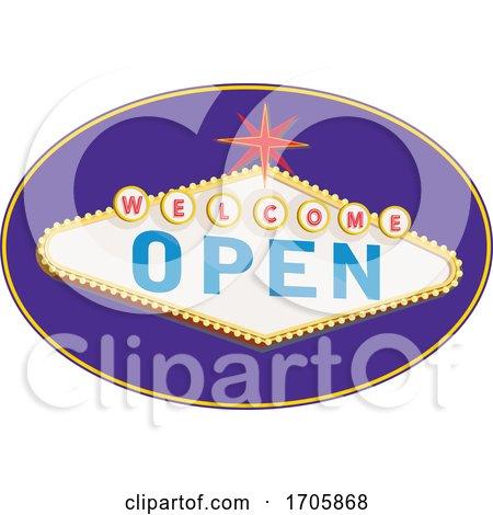 Welcome open sign RETRO by patrimonio