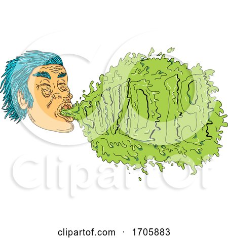 Man Coughing Covid 19 Grime Art by patrimonio