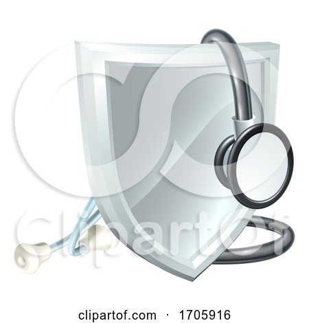 Stethoscope Shield Medical Healthcare Concept by AtStockIllustration