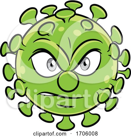 Cartoon Angry Coronavirus by cidepix