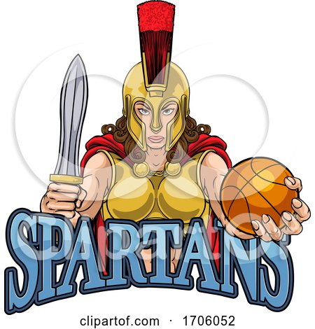 Spartan Trojan Gladiator Basketball Warrior Woman by AtStockIllustration