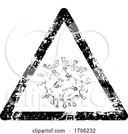 Distressed Covid 19 Coronavirus Warning Sign by dero
