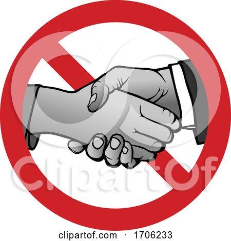 Covid 19 Coronavirus No Handshaking Posters, Art Prints