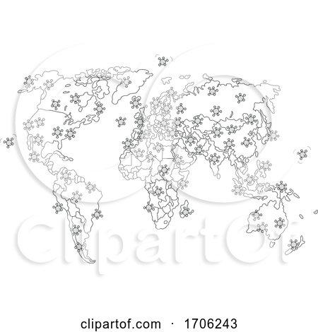 Covid19 Coronavirus Map by Alex Bannykh